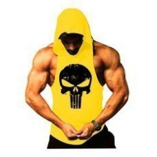 Punisher Sporcu Kapüşonlu Atlet Sarı