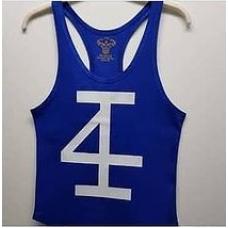 Mavi-Beyaz Sporcu Tanktop Atlet