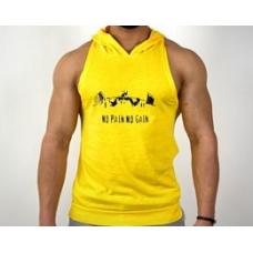 No Pain-Gain Sporcu Kapüşonlu Atlet Sarı