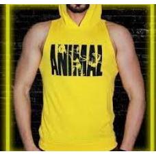 Animal Sporcu Kapüşonlu Atlet Sarı