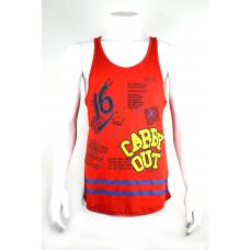Kırmızı Desenli Sporcu Tanktop Atlet
