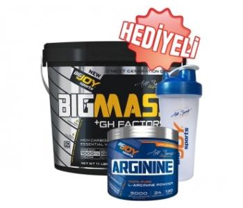 BigJoy Sports BigMass GH Factors 5000 Gr   Arginine 120 Gr   Shaker